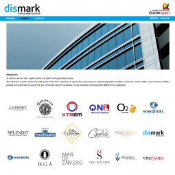 Página de marcas de productos de Dismark