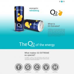 Página para marca de bebida energética