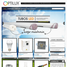 Web de venta online de productos de iluminación