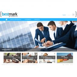 Web de la empresa de productos de importación Bestmark