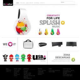 Web con catálogo de productos de electrónica de consumo Mooster