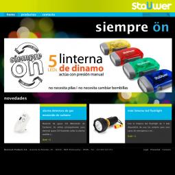 Web con catálogo de productos de la marca Staüwer