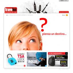 Web con catálogo de accesorios de viaje Travelux